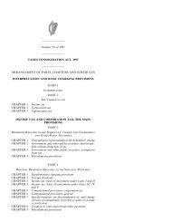 TAXES CONSOLIDATION ACT, 1997 - Houses of the Oireachtas