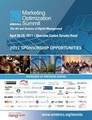 2011 SPONSORSHIP OPPORTUNITIES - Emetrics Summit