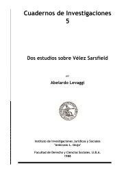 Cuadernos de Investigaciones 5 Dos estudios sobre Vélez Sarsfield