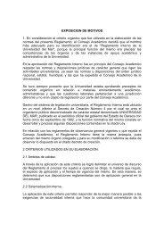 Reglamento Interno - Universidad del Mar