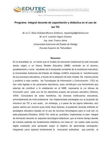 Programa integral docente de capacitación y didáctica en el uso de ...