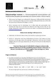 Instruktioner till diskussion och egna reflektioner ... - CSD Uppsala