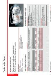 Technische Daten - Staufenbiel.ch