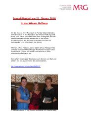 Bericht und Fotos - MRG Metzger Realitäten Gruppe