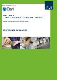 earli sig 20 computer-supported inquiry learning conference ...
