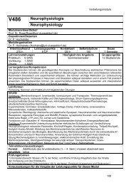 V486 Neurophysiologie Neurophysiology - Biologie