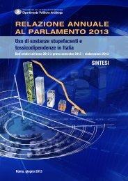la sintesi (file pdf) - Dipartimento per le politiche antidroga