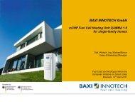 BAXI – FCH in Smart Cities – EUSEW 2011 - European Hydrogen ...