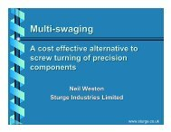 Multi-swaging: A Cost-Effective Alternative to Screw Turning of ...