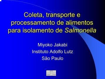 COLETA DE AMOSTRAS DE ALIMENTOS
