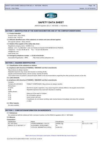 Polytrol - Safety Data Sheet - Promain