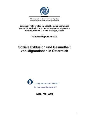 Soziale Exklusion und Gesundheit von MigrantInnen in ... - Kompass