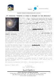 Bando di partecipazione - Osservatorio Astrofisico di Catania - Inaf