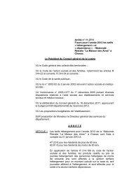 Arrêté n° - Conseil général de la Lozère