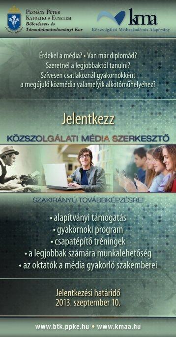 Ismertető - Alumni - Pázmány Péter Katolikus Egyetem