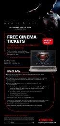FREE CINEMA TICKETS* - E-Merchant