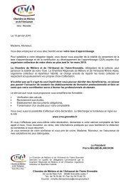 Chambre de Métiers et de l'Artisanat de l'Isère Grenoble Madame ...