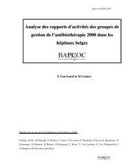 Analyse des rapports d'activités des groupes de gestion de l ...