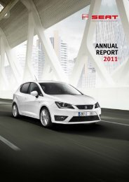 SEAT Annual Report 2011 - Volkswagen AG