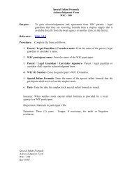 Surplus Stock Special Infant Formula Acknowledgement Form