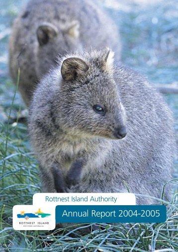 Annual Report 2004-2005 - Rottnest Island