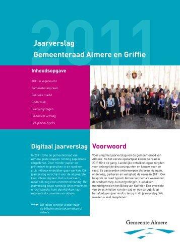 Jaarverslag Gemeenteraad Almere en Griffie