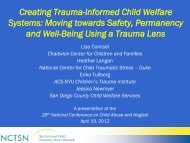 Creating Trauma-Informed Child Welfare Systems ... - Pal-Tech