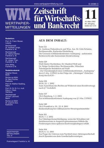 RECHT Titel 11.pmd - WM Wirtschafts