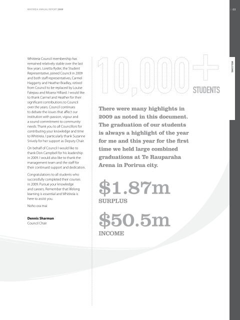 Annual Report 2009.pdf - Whitireia Community Polytechnic