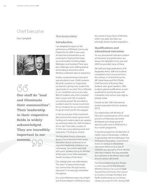 Annual Report 2009.pdf - Whitireia Community Polytechnic