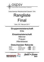Rangliste Einzelmeisterschaften und ... - auf lgek.ch