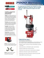 Our 7000 Series Tire Changers were designed to handle - aesco