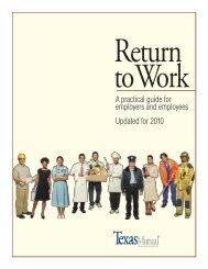 Return-to-Work - Texas Mutual Insurance Company