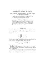 GENERALIZED HILBERT OPERATORS 1. Introduction 1.1 ...