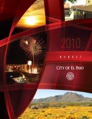 FY10 Budget Book - City of El Paso