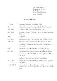 Dr. Constantin Hoch Department Chemie LMU München ...