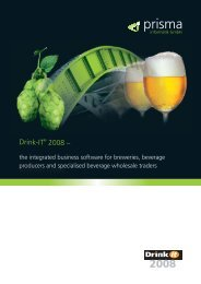 the integrated business software for breweries ... - Prisma Informatik