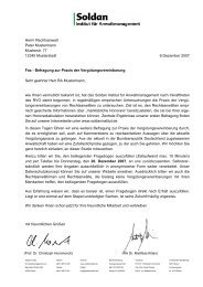 Herrn Rechtsanwalt Peter Mustermann Musterstr. 77 ... - Soldan Institut