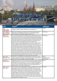 Download Full Itinerary - Greenmount Press