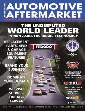 contents july 2005 - Australian Automotive Aftermarket Magazine