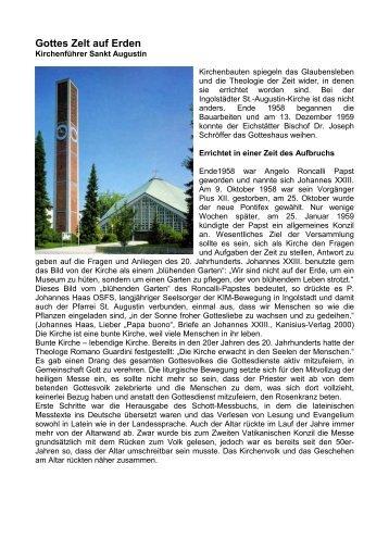 Gottes Zelt auf Erden - St. Augustin Ingolstadt