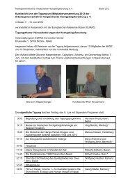 Bericht über die Tagung 2012 in Bozen als - bei der ...