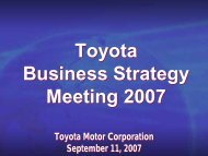 [PDF] Toyota Business Strategy Meeting 2007