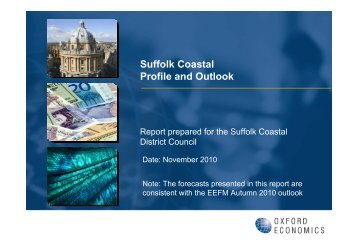 Oxford Economics Suffolk Coastal Profile and Outlook