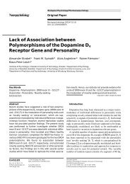 Lack of Association between Polymorphisms of the Dopamine D4 ...