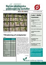 Tiltrækning af småplanter Læs i dette nummer.. - LandbrugsInfo