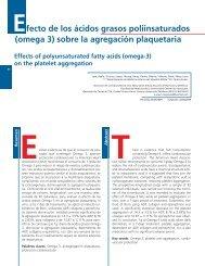 Efecto de los ácidos grasos poliinsaturados (omega 3 ... - SciELO