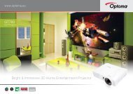 Bright & Immersive 3D Home Entertainment Projector ... - Optomaru.ru