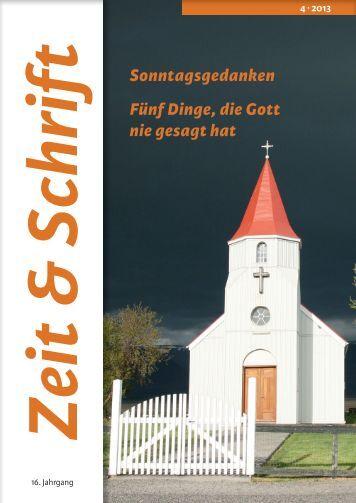 Heft 4/2013 - Zeit & Schrift