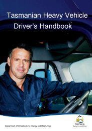 Tasmanian Heavy Vehicle Driver's Handbook - Transport
